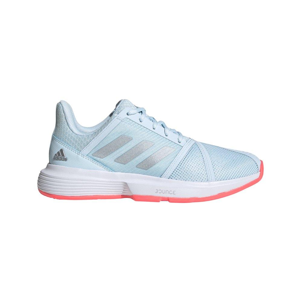 Adidas Courtjam Bounce EU 38 2/3 Sky Tint / Silver Metalic / Signal Pink
