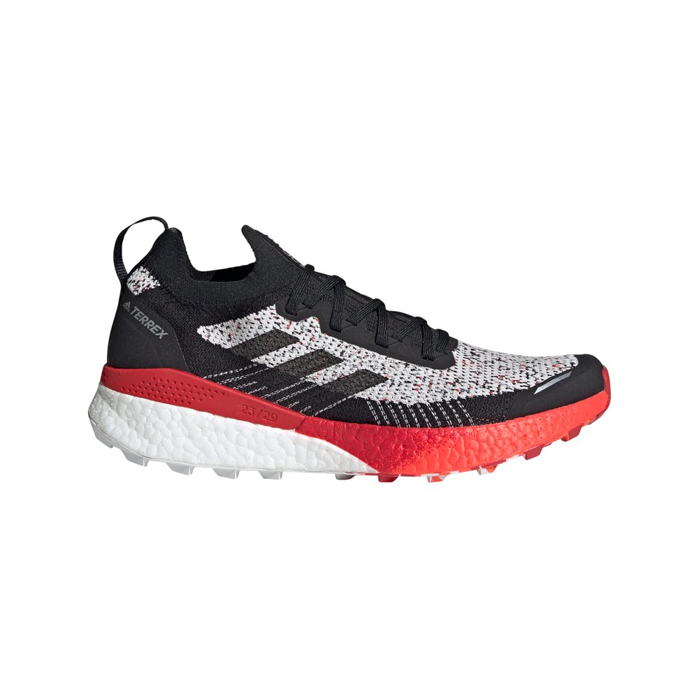 Adidas Terrex Two Ultra Parley EU 45 1/3 Crystal White / Core Black / Scarlet