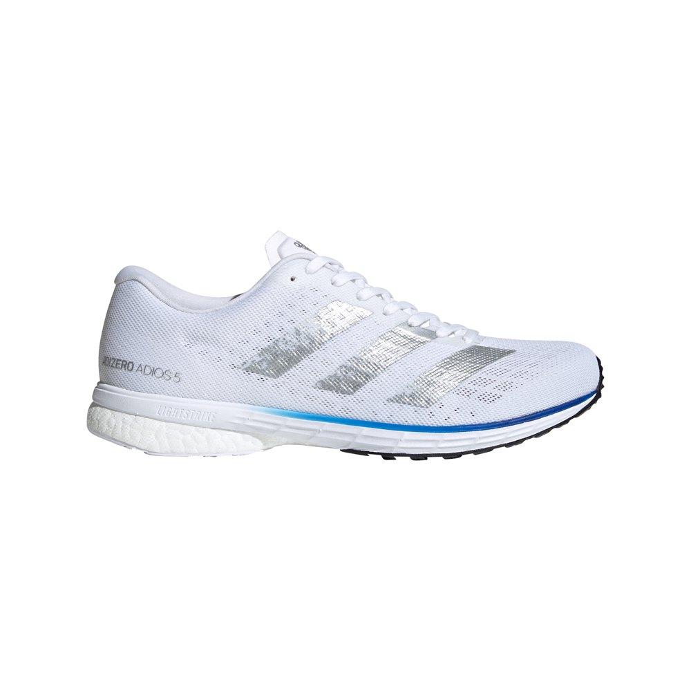 Adidas Adizero Adios 5 EU 47 1/3 Ftwr White / Silver Metalic / Team Royal Blue