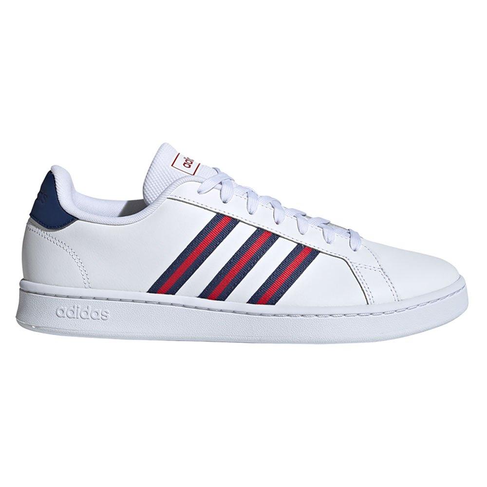 Adidas Grand Court EU 40 Ftwr White / Tech Indigo / Scarlet