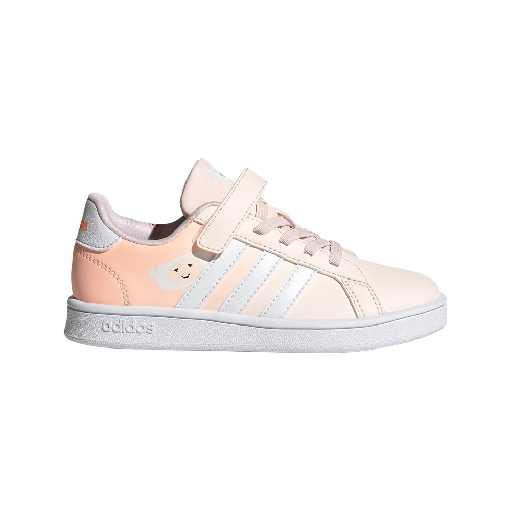 Adidas Grand Court C EU 34 Pink Tint / Ftwr White / Light Flash Orange