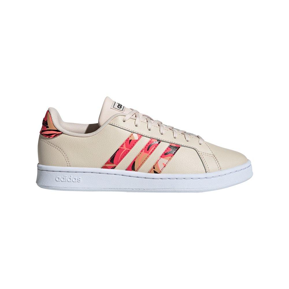 Adidas Grand Court EU 38 Linen / Signal Pink / Ftwr White