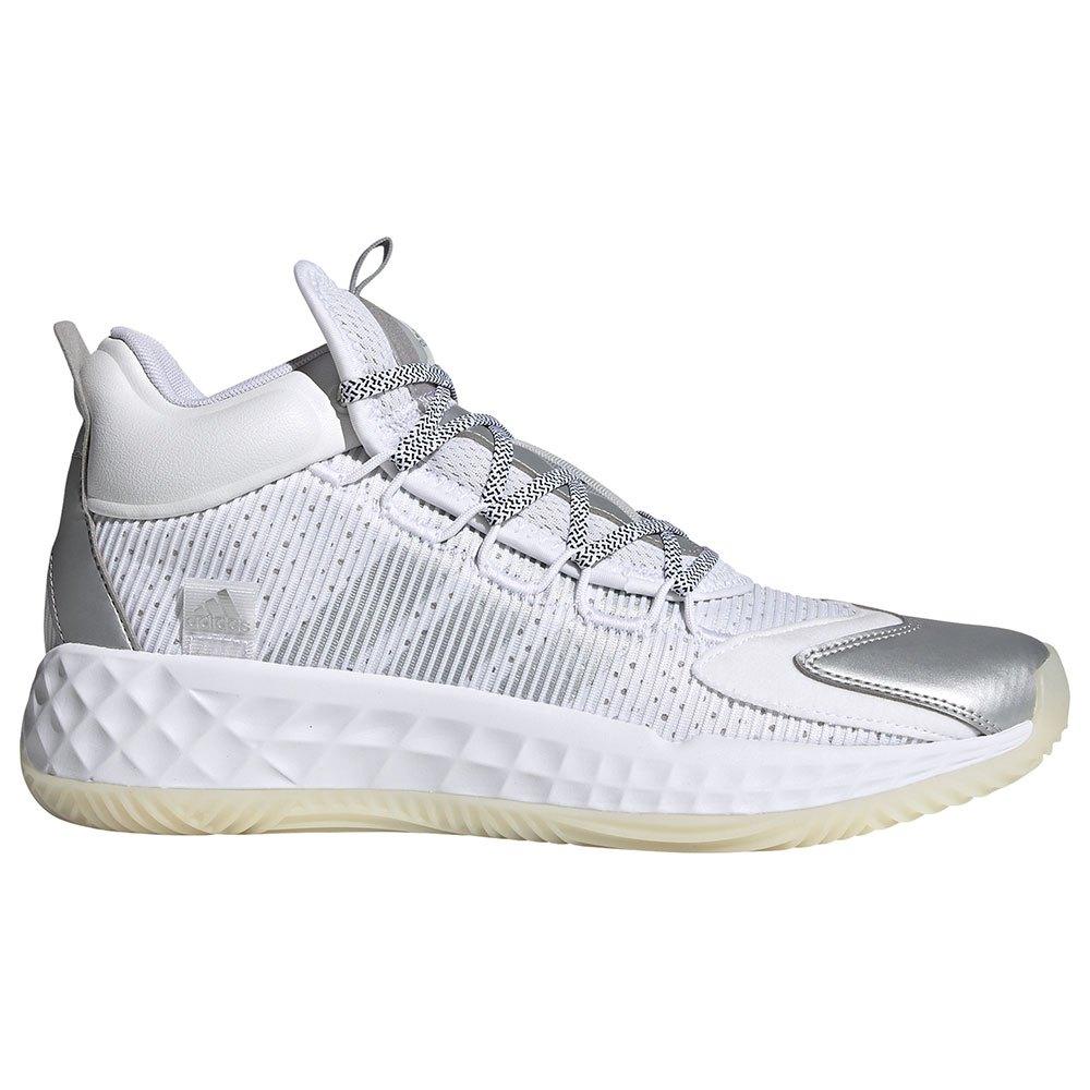 Adidas Pro Boost Mid EU 43 1/3 Ftwr White / Silver Metalic / Chalk White