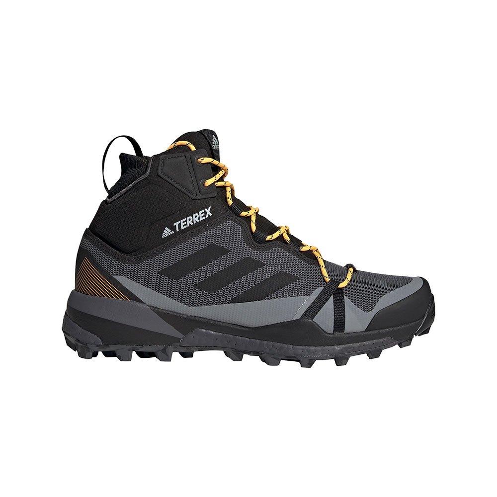 Adidas Zapatillas Senderismo Terrex Skychaser Lt Mid Goretex Grey Six / Core Black / Solar Gold