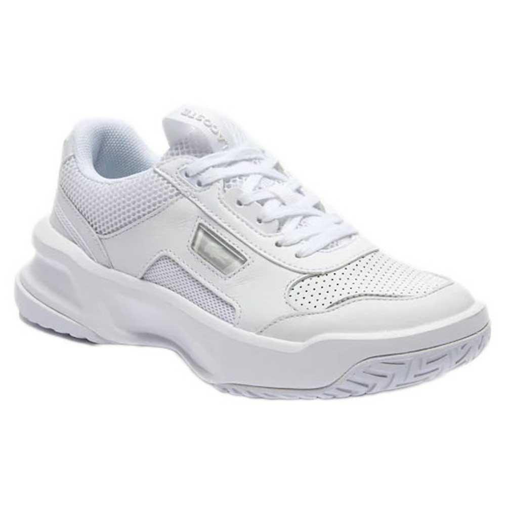 Lacoste Sport Ace Lift Tonal Leather Textile EU 37 White / White