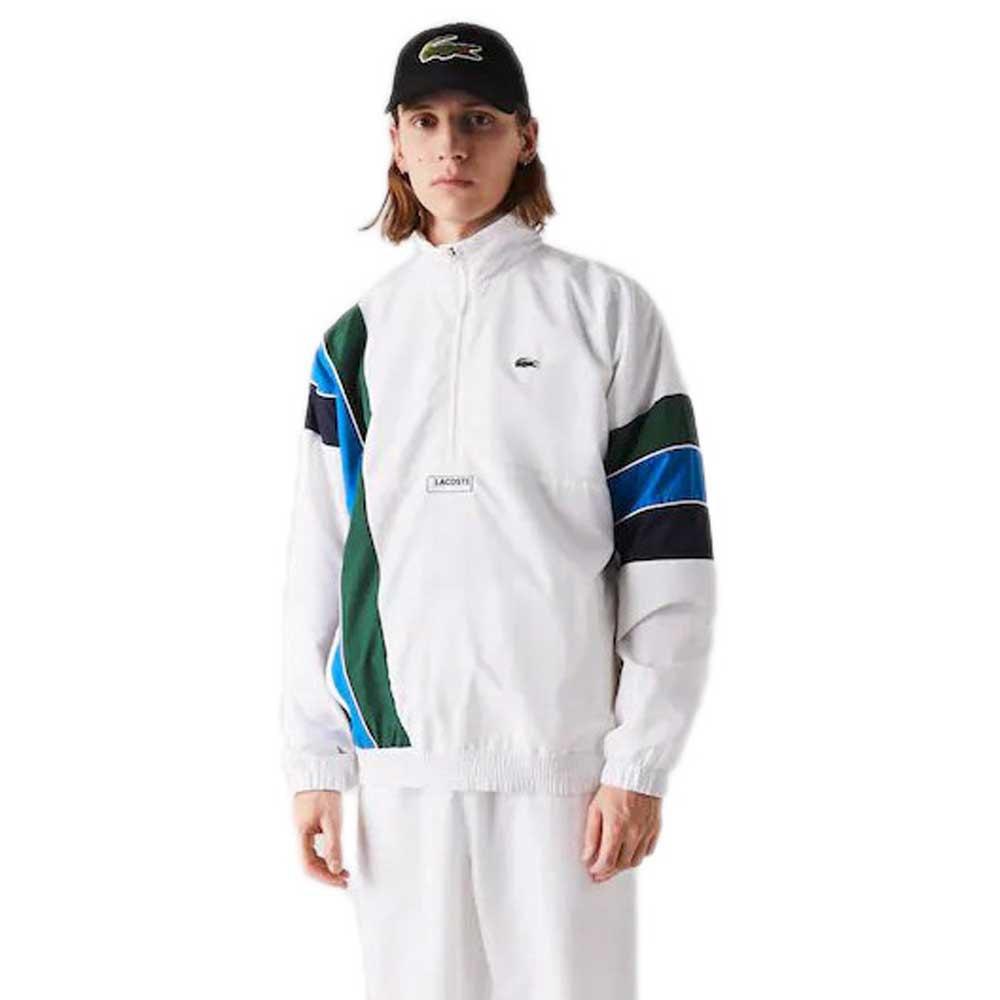 Lacoste Sport Lightweight L-XL White / Navy Blue / Blue / Green