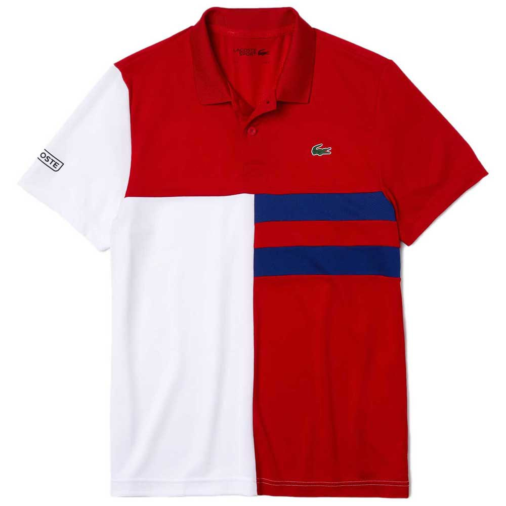 Lacoste Sport Colourblock Breathable Pique L Red / White / Blue / Black