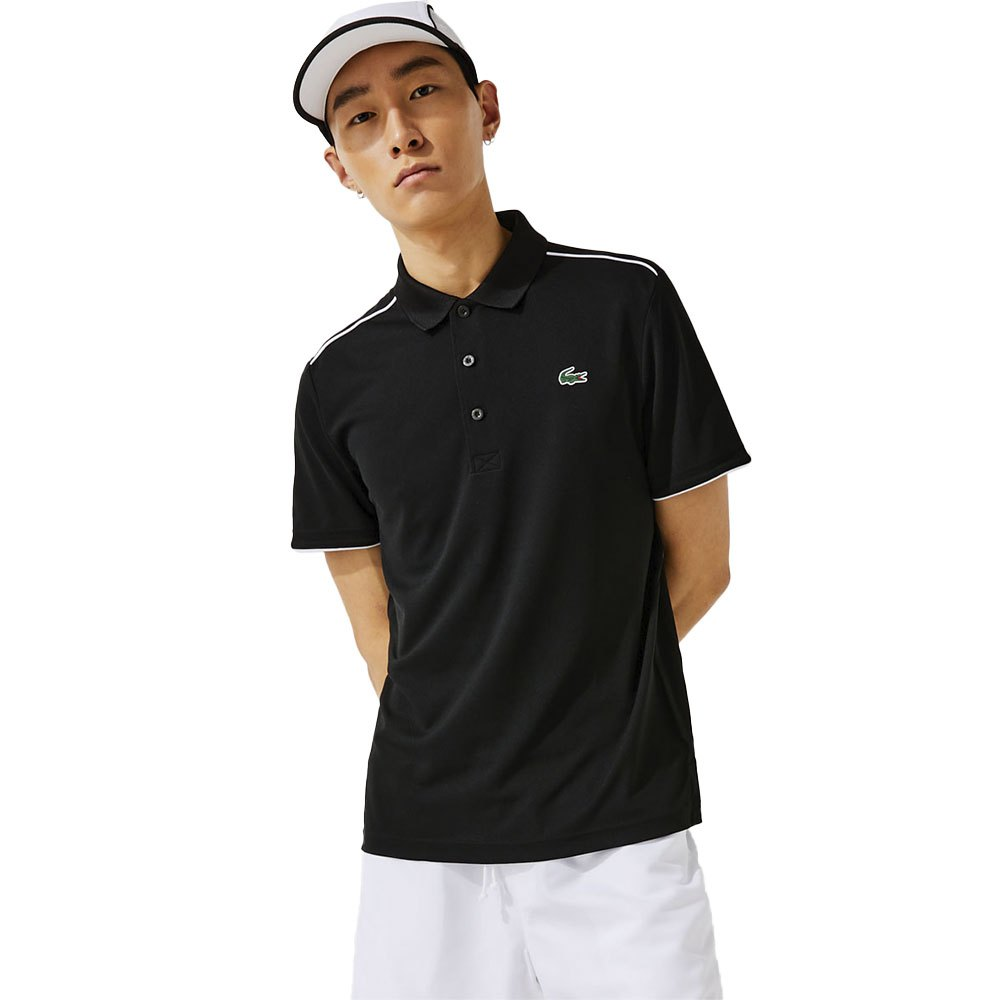 Lacoste Sport Ribbed Pique S Black / White