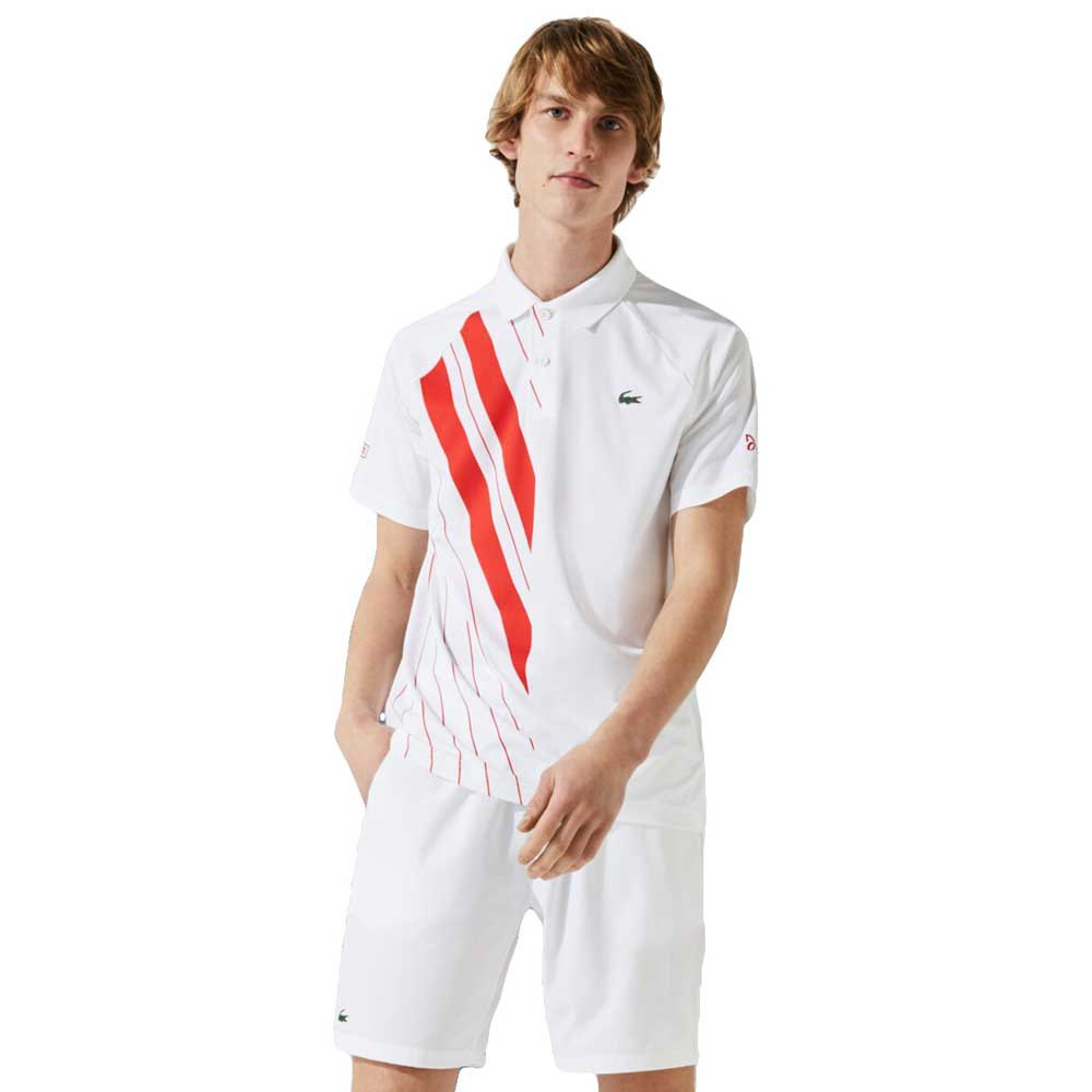 Lacoste Sport Djokovic Stretch Ribbed XS White / Red