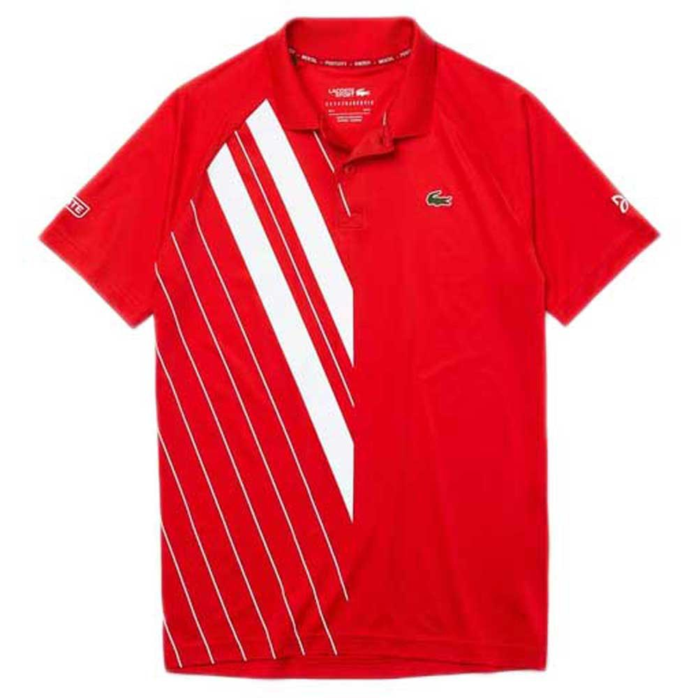 Lacoste Sport Djokovic Stretch Ribbed L Red / White