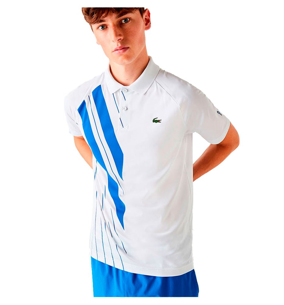 Lacoste Sport Djokovic Stretch Ribbed L White / Marina