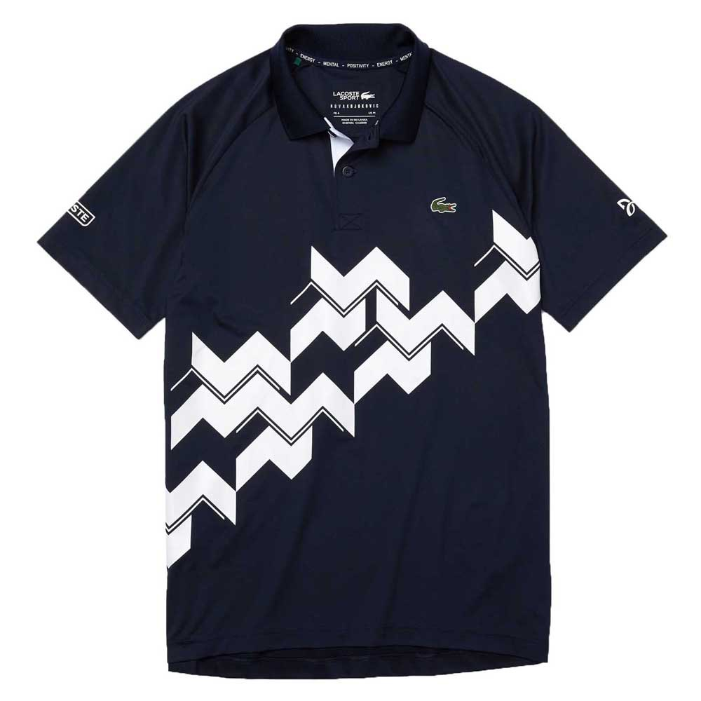 Lacoste Sport Djokovic Breathable Stretch Ribbed M Navy Blue / White