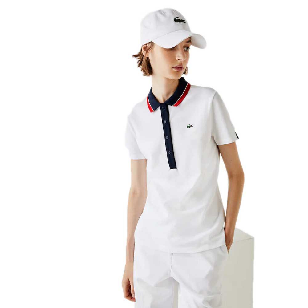 Lacoste Sport Stretch Golf 4 White / Navy Blue / White / Red