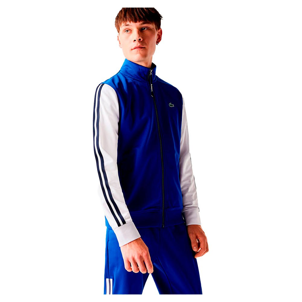 Lacoste Sport Two Tone Technical Pique XS Blue / White