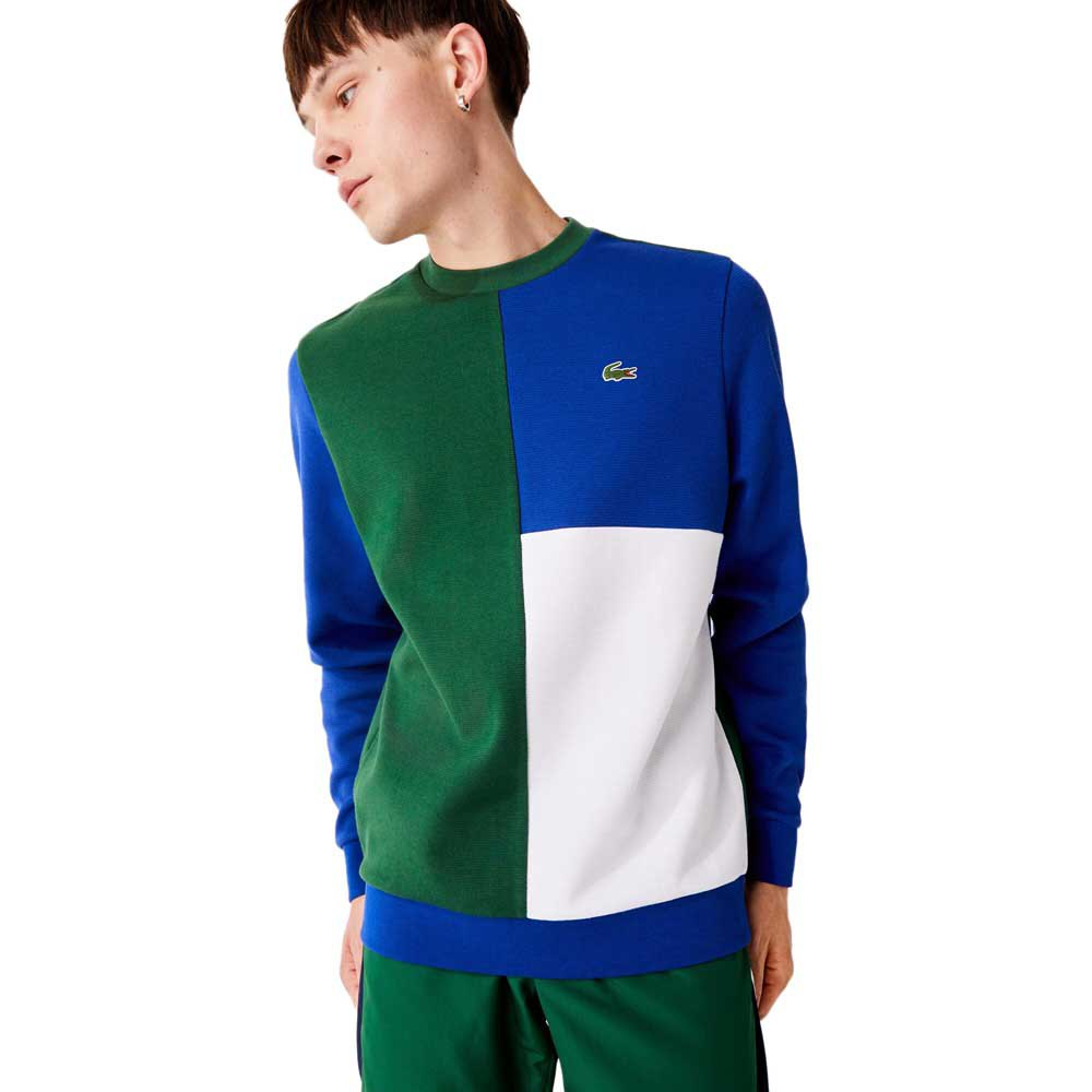 Lacoste Sport Two Ply Colourblock Cotton Blend XL Green / Blue / White