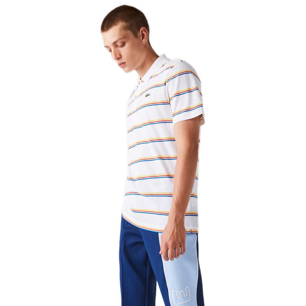 Lacoste Sport Striped Lightweight Cotton XL White / Blue / Red