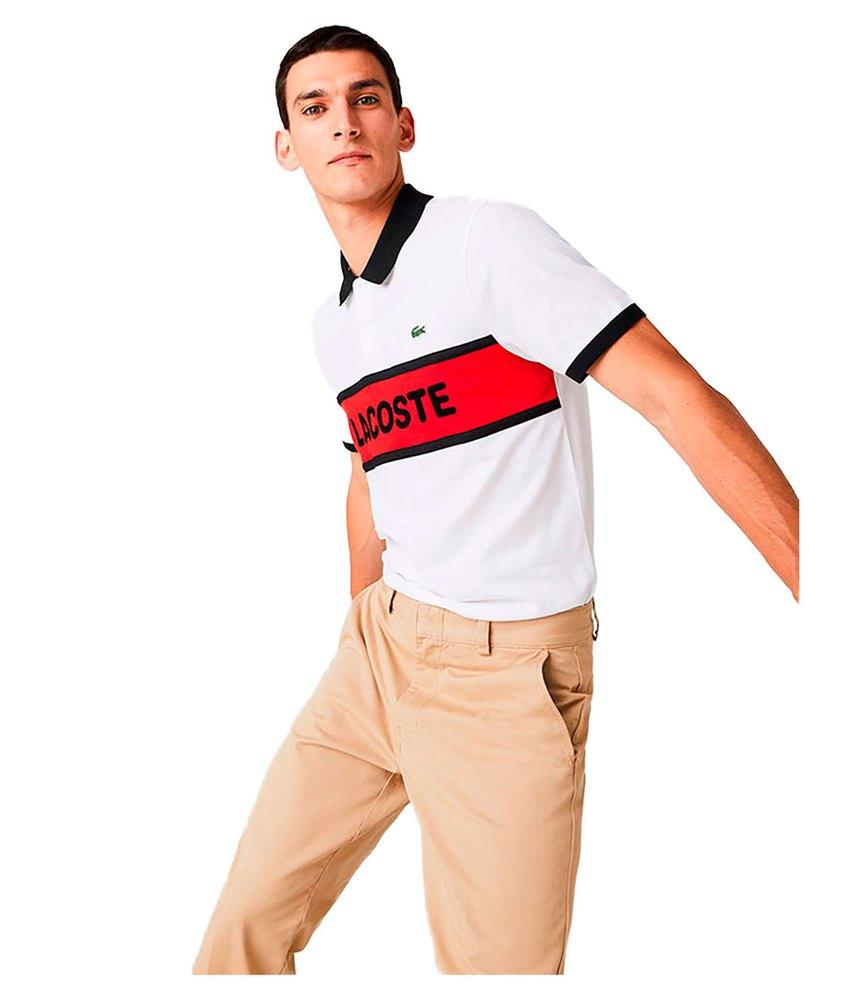 Lacoste Sport Graphic Print Cotton XL White / Red / Black