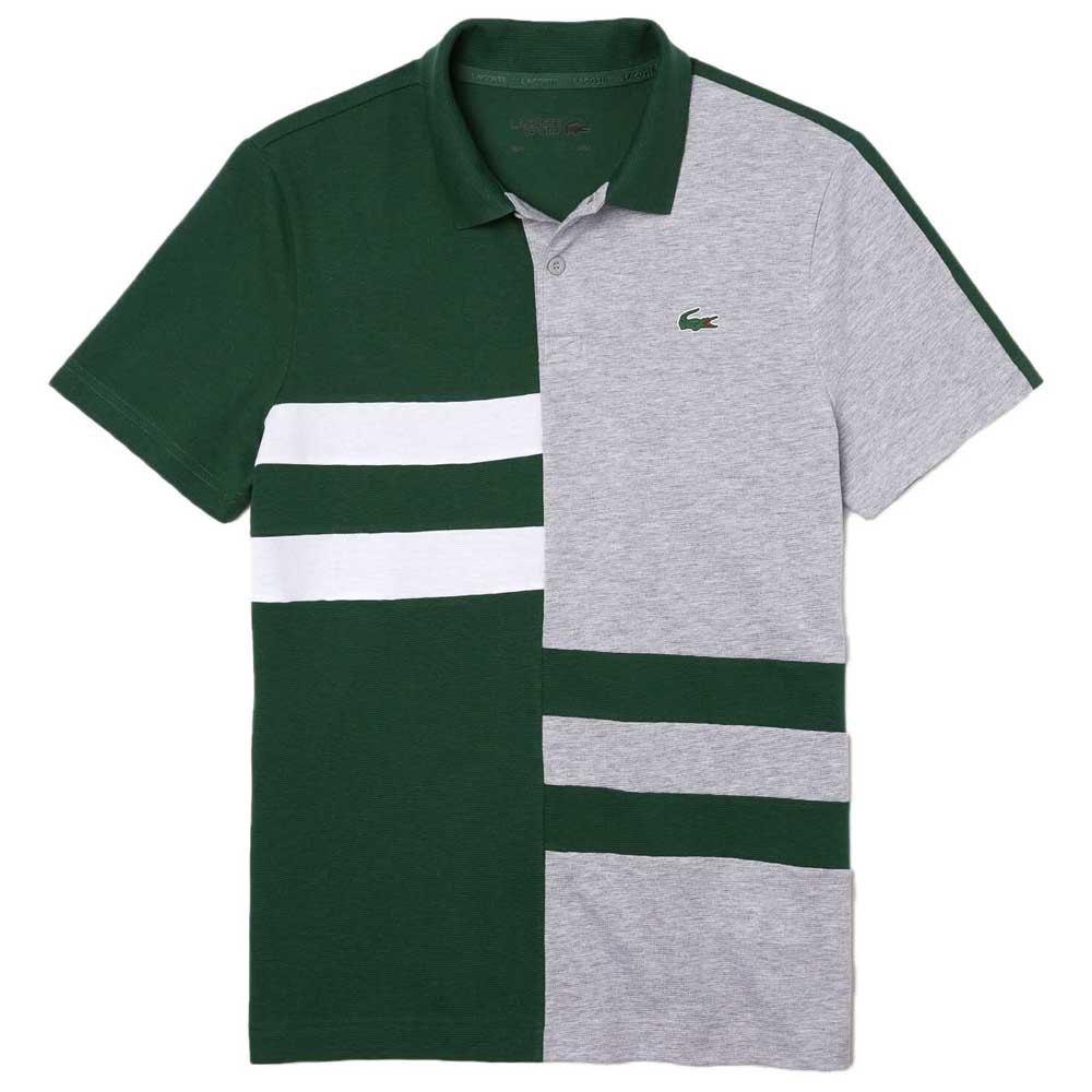 Lacoste Sport Colourblock Lightweight Cotton XL Green / Grey Chine / White