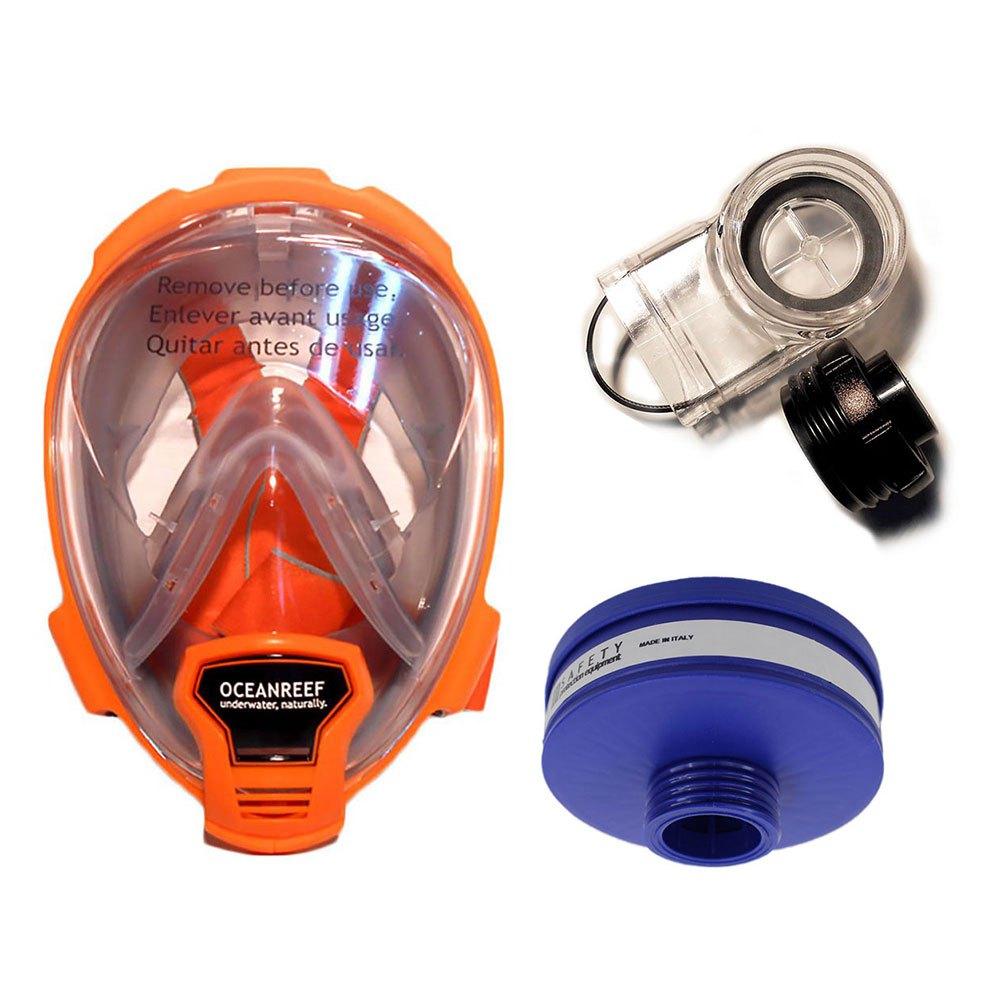 Ocean Reef Aria 19 Pack M Orange Vollgesichtsmasken Aria 19 Pack