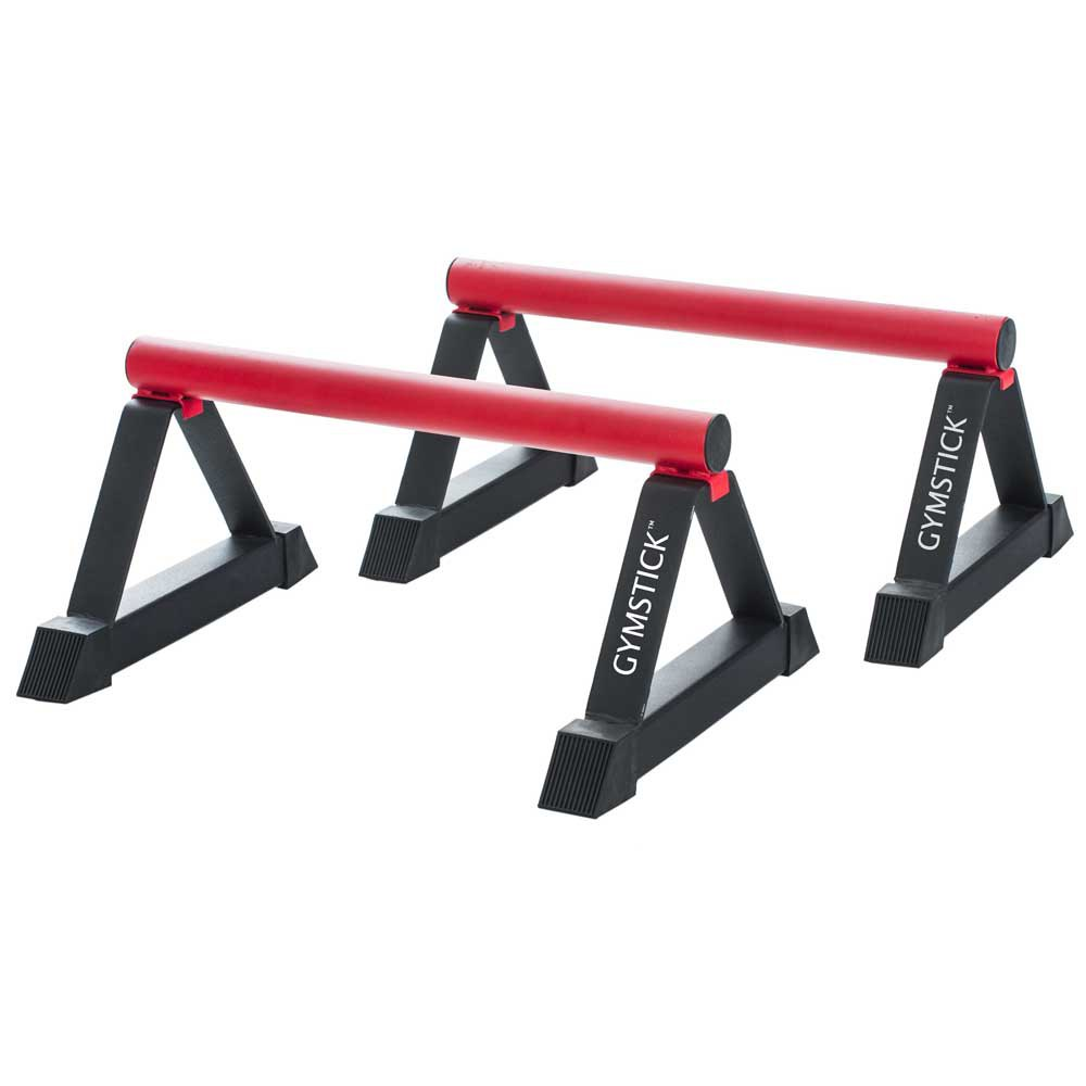 Gymstick Parallettes 58.5x43x28.5 Black / Red