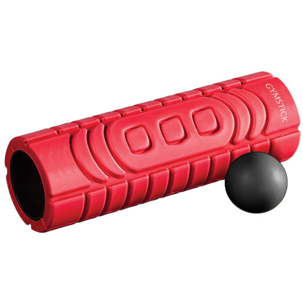 Gymstick Travel Roller With Myofascia Ball 10x30x10 cm Red