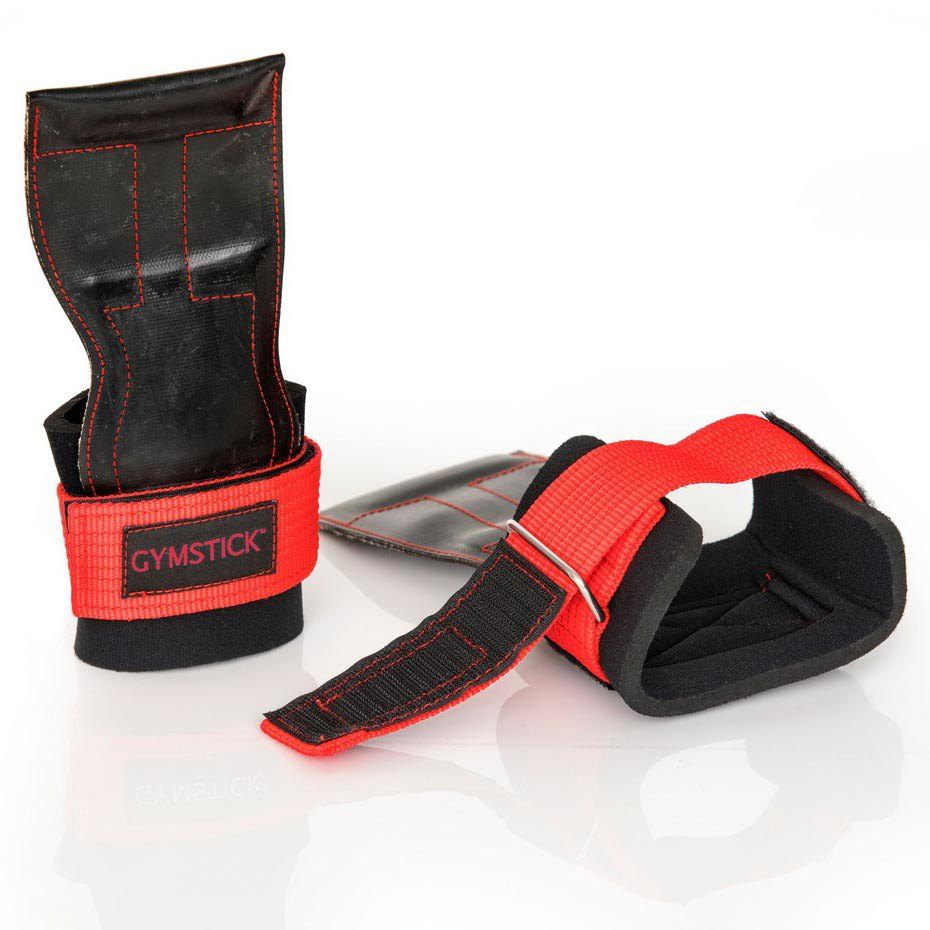 Gymstick Lifting Grips One Size Black Red