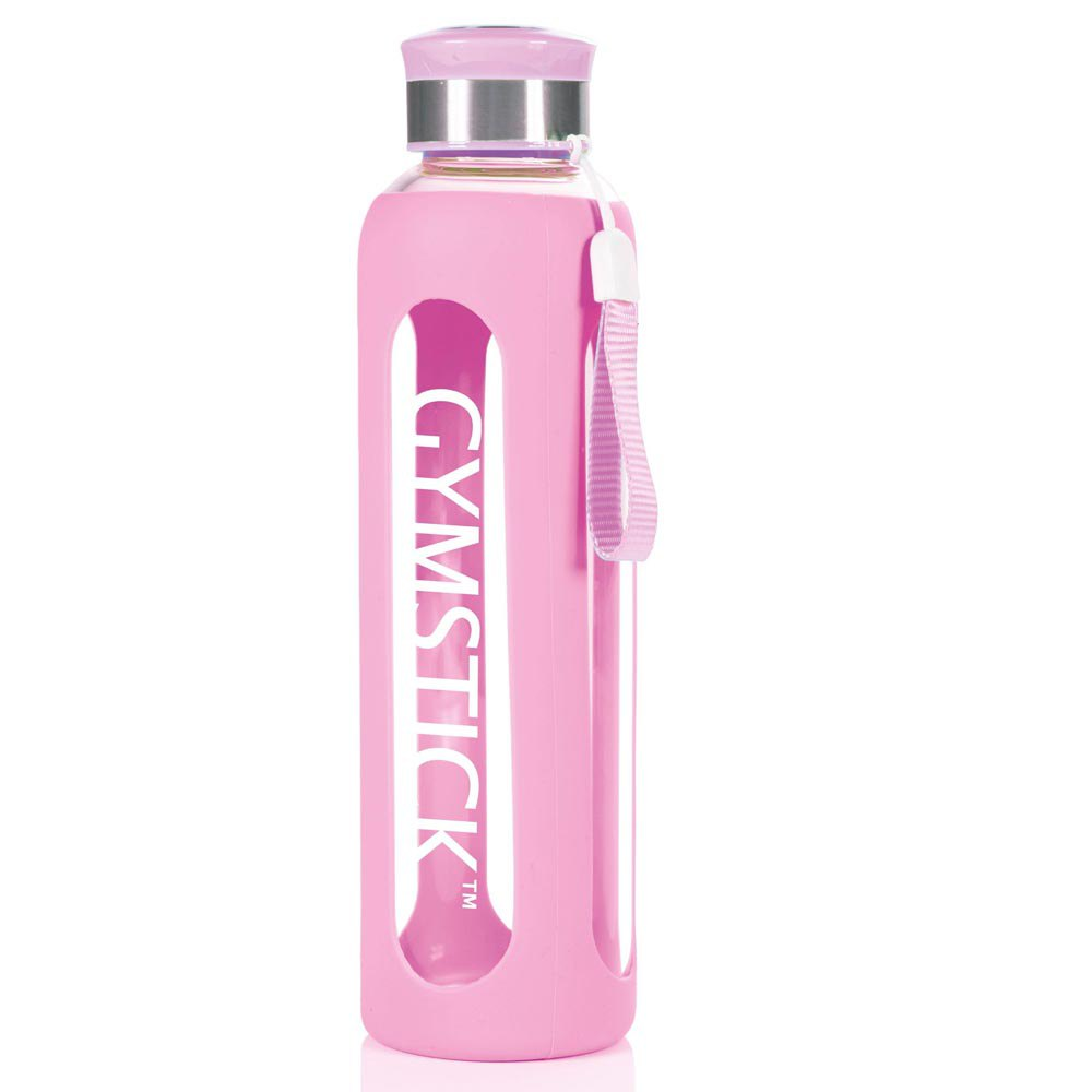 Gymstick Glass Water 600ml One Size Pink