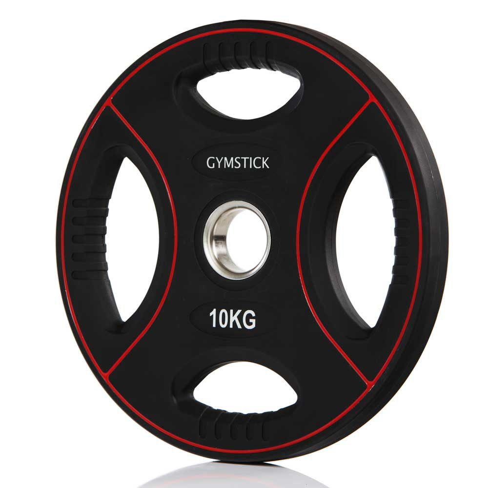 Gymstick Pro Pu Weight Plate 10kg Unit 10 Kg Black / Red