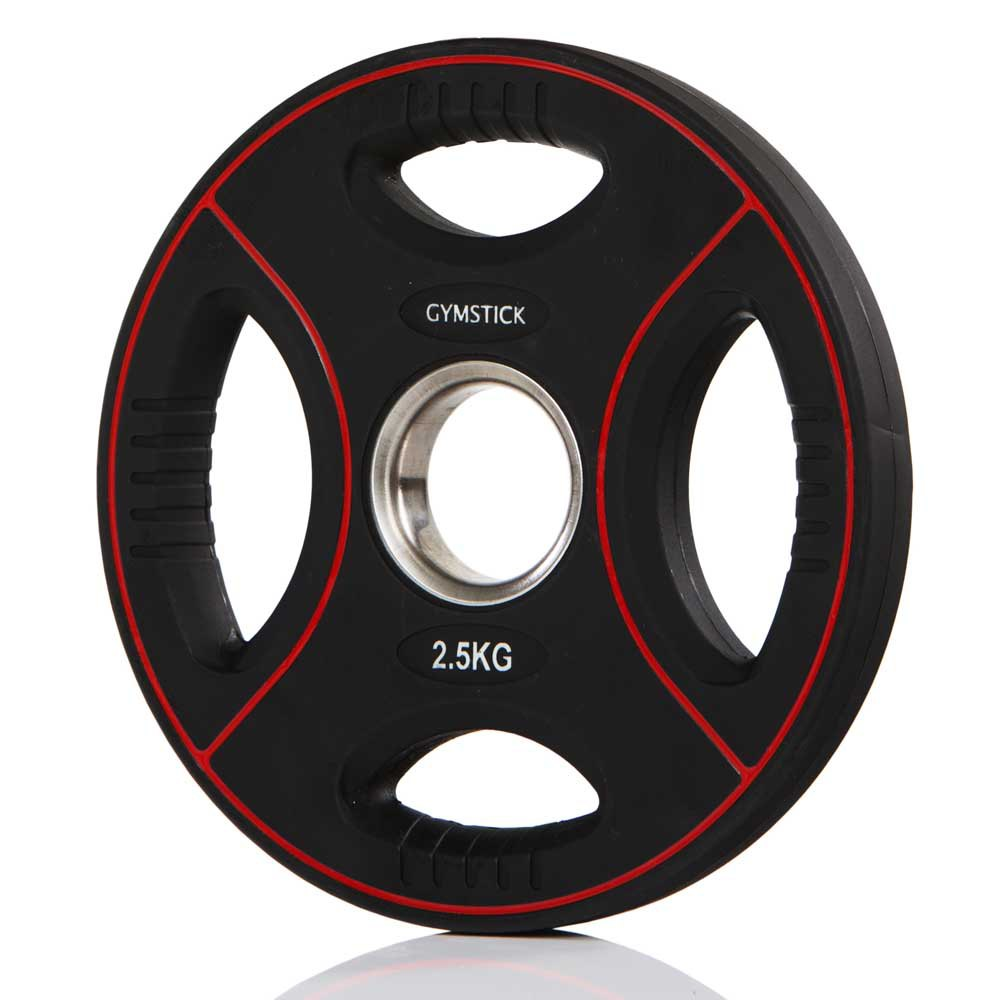 Gymstick Pro Pu Weight Plate 2.5kg Unit 2.5 Kg Black / Red