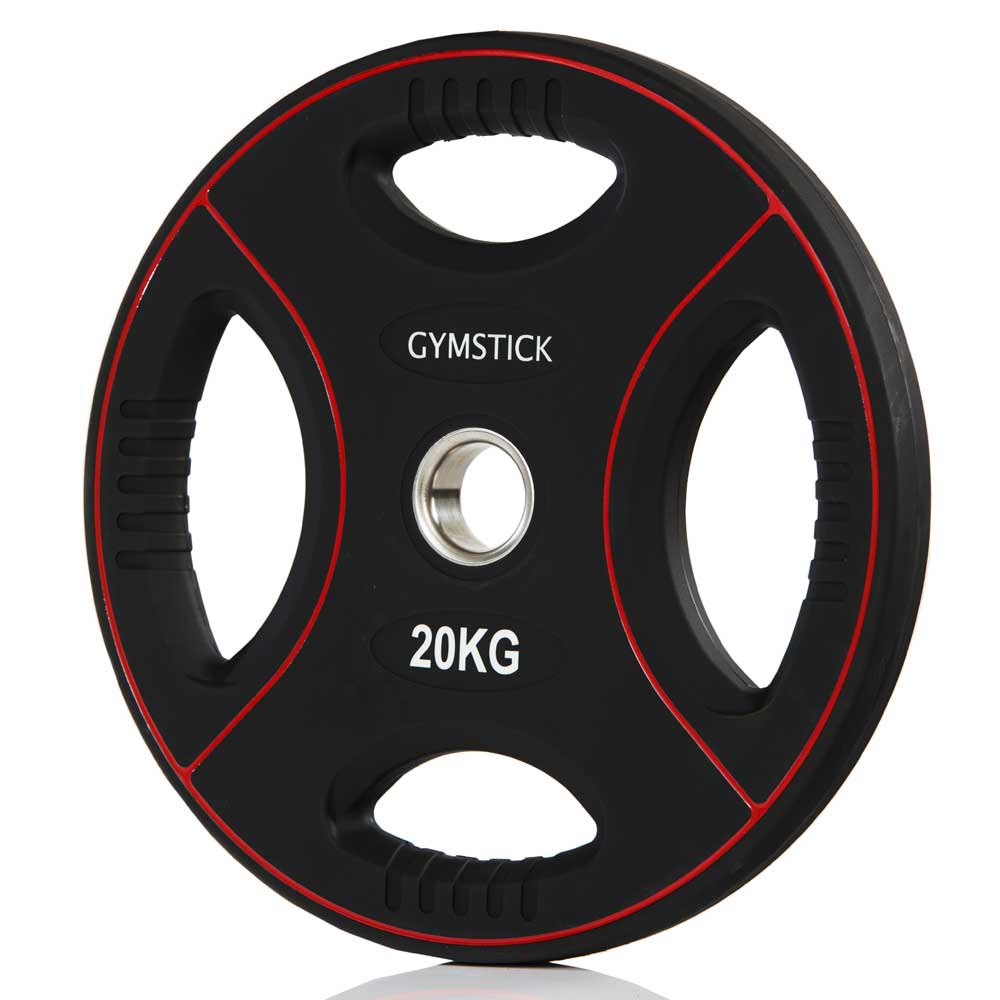 Gymstick Pro Pu Weight Plate 20kg Unit 20 Kg Black / Red