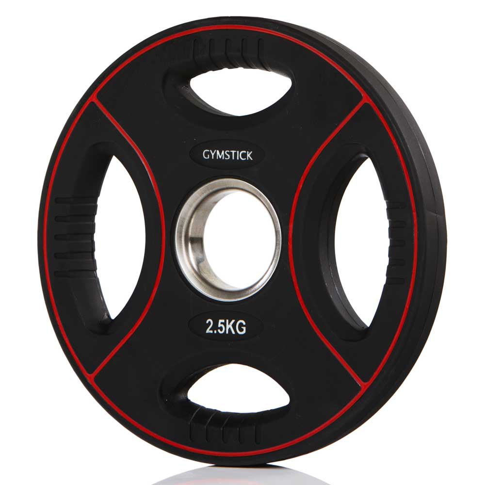 Gymstick Pro Pu Weight Plate 5kg Unit 5 Kg Black / Red