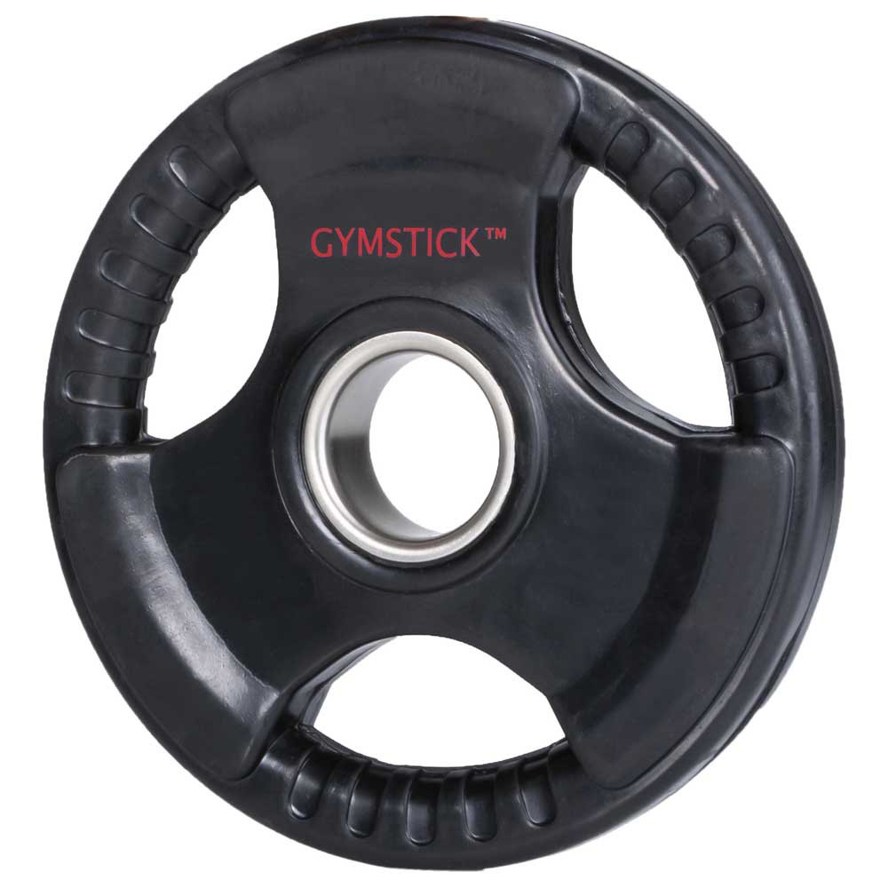 Gymstick Rubber Weight Plate 15 Kg Unit 15 Kg Black