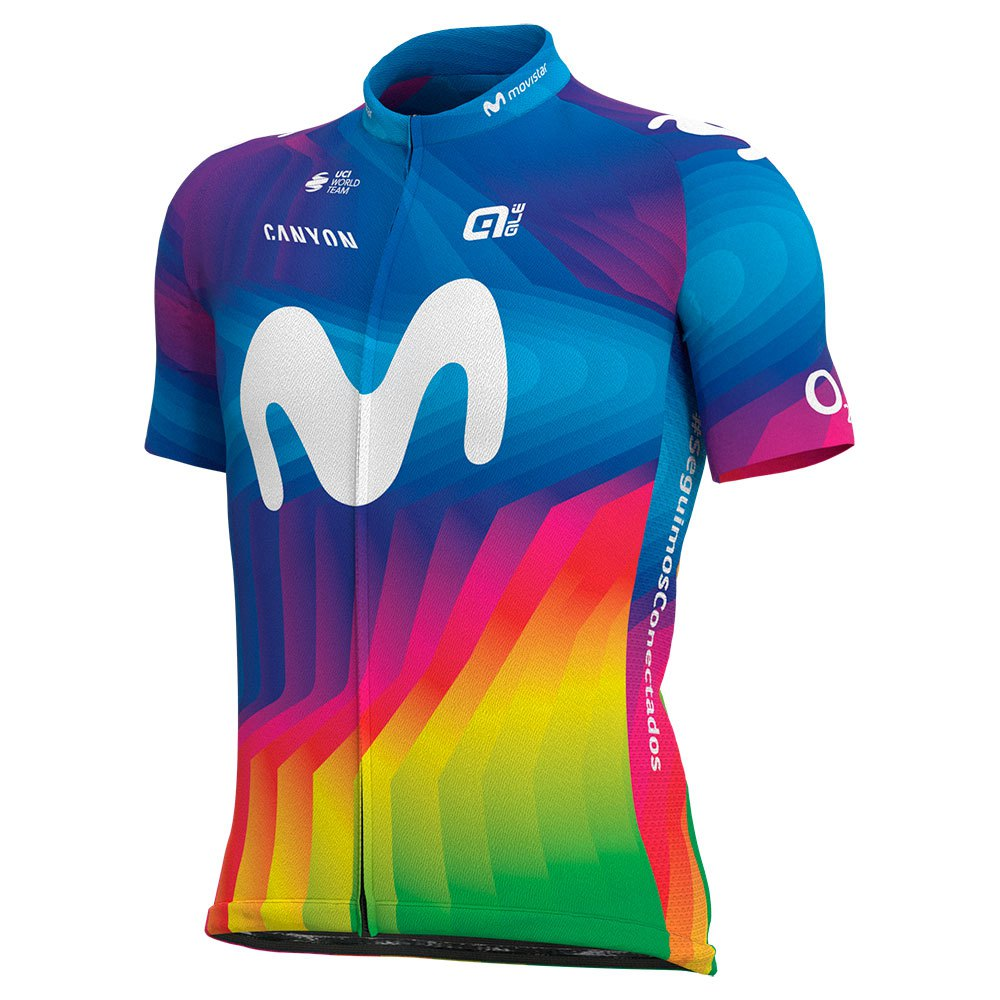 Ale Movistar Team 2020 Strade Bianche XXXL Multicolor