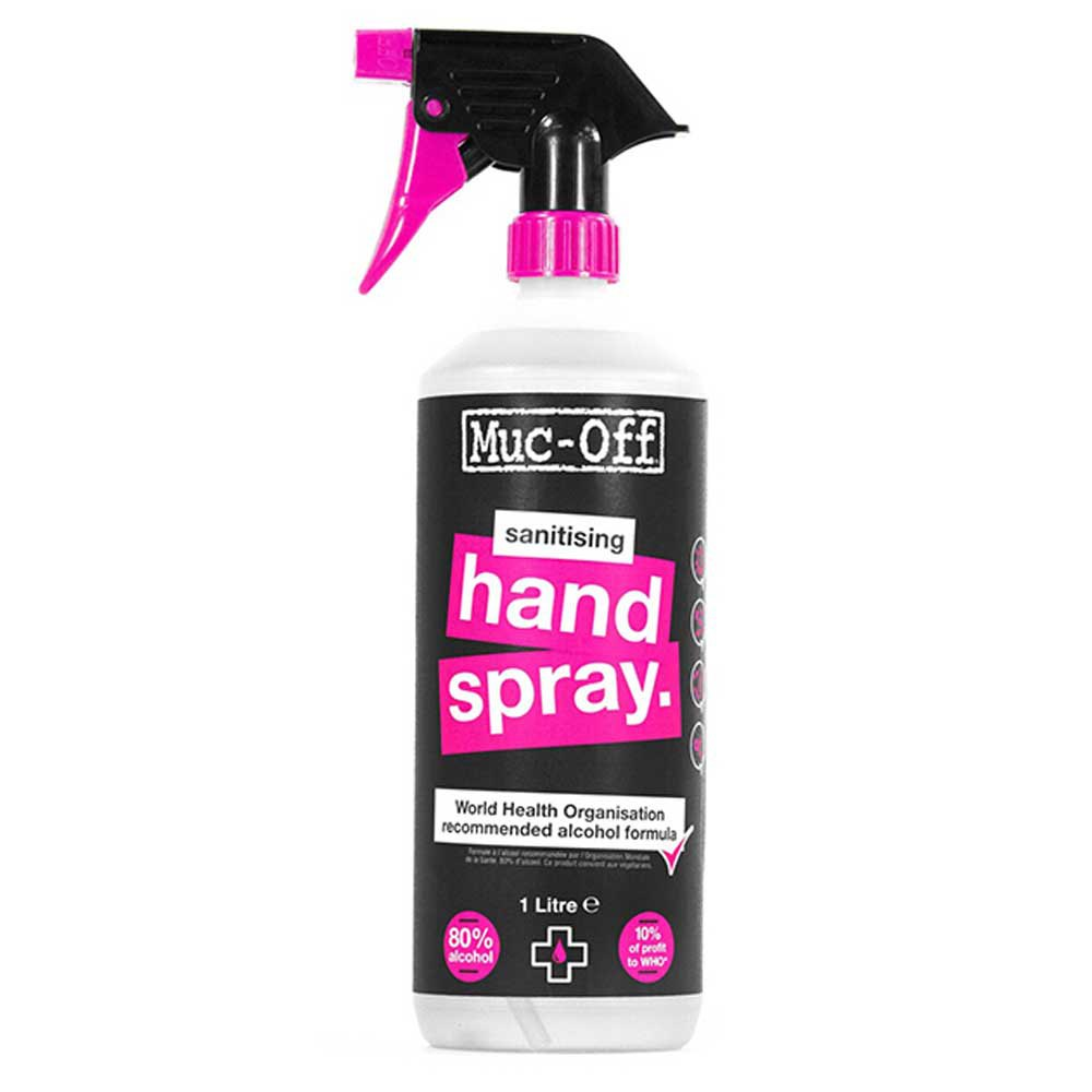 Muc Off Antibacterial Sanitising Hand Spray 1l One Size Pink