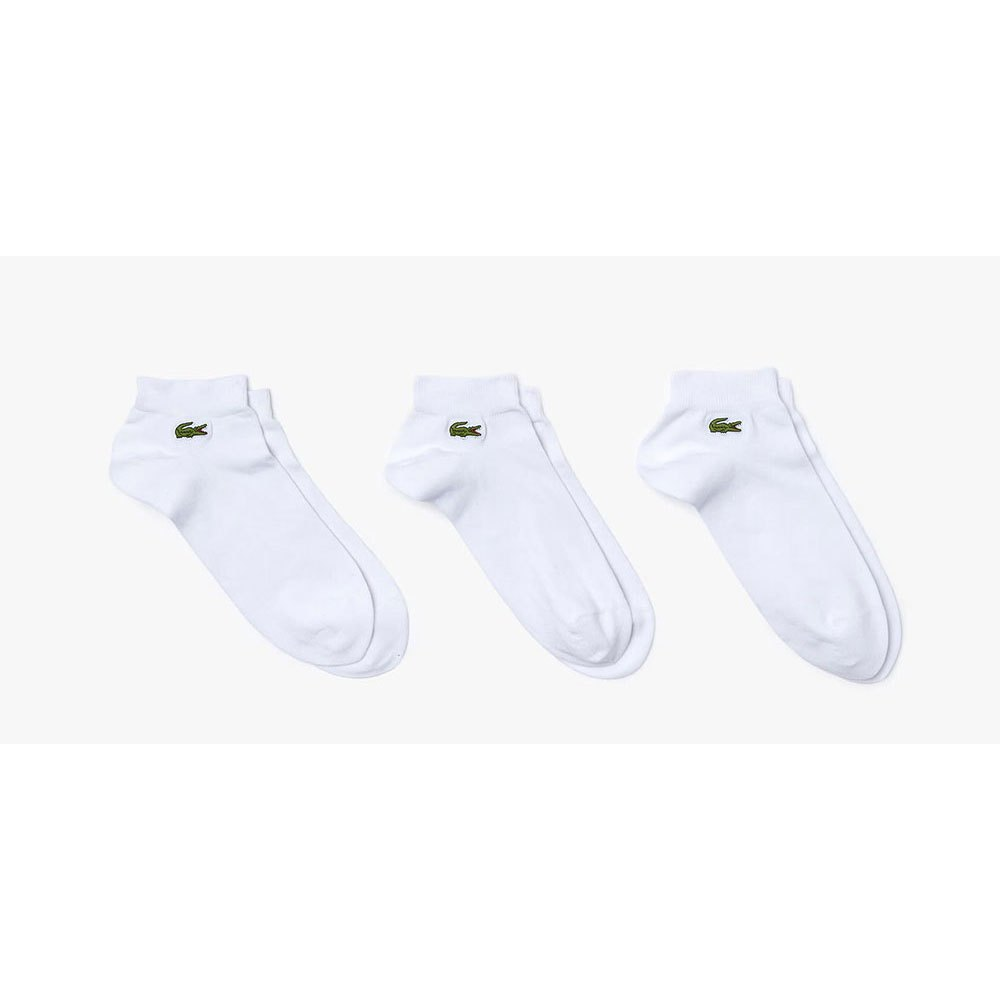 Lacoste Chaussettes Sport Ribbed Cotton Blend EU 41-46 White / White / White