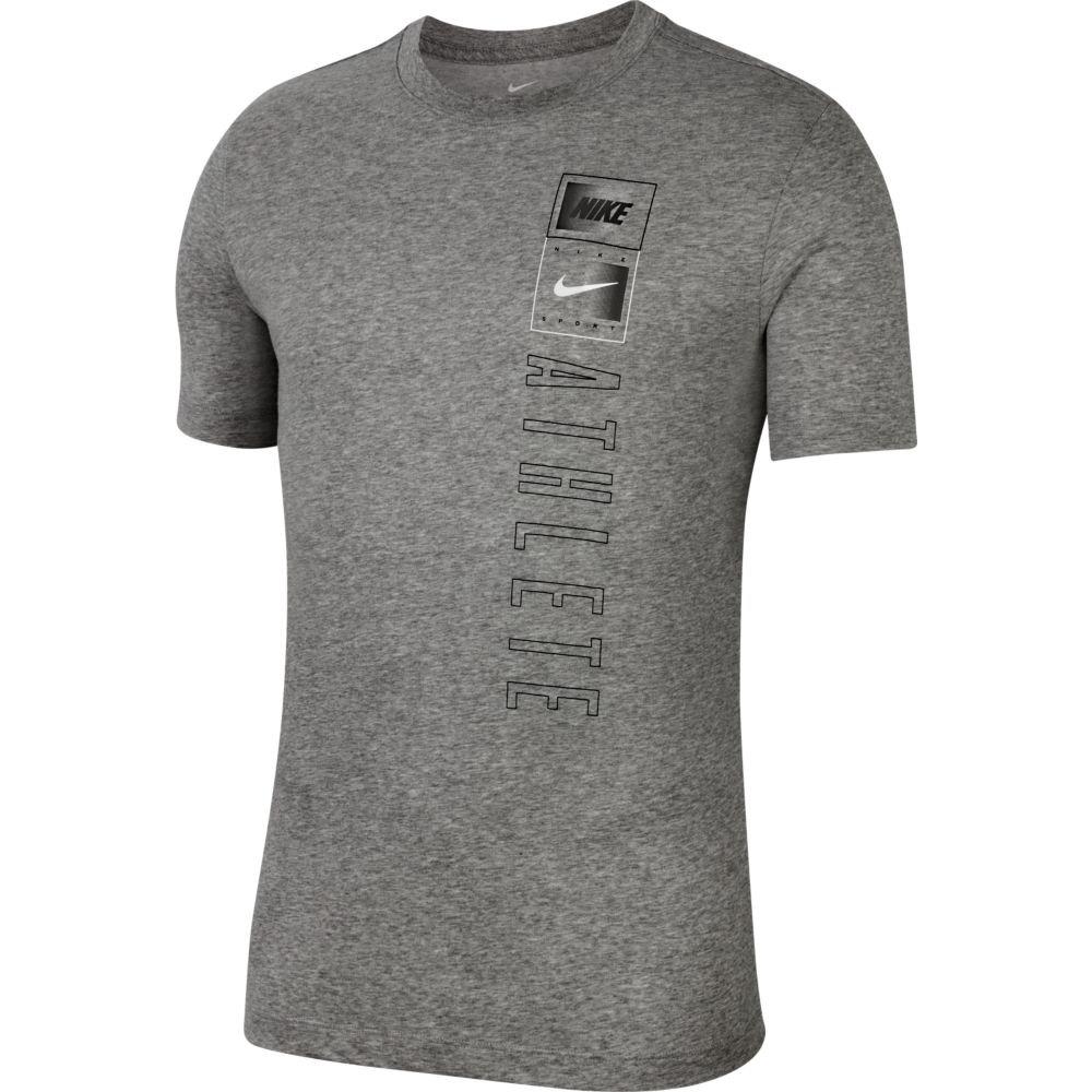 Nike T-shirt Manche Courte Dri Fit Just Do It Training XL Dk Grey Heather