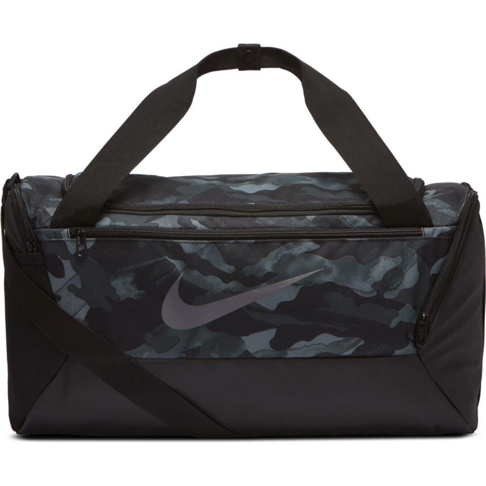 Nike Brasilia Printed Training Duffel S One Size Lt Smoke Grey / Black / Mtlc Cool Grey