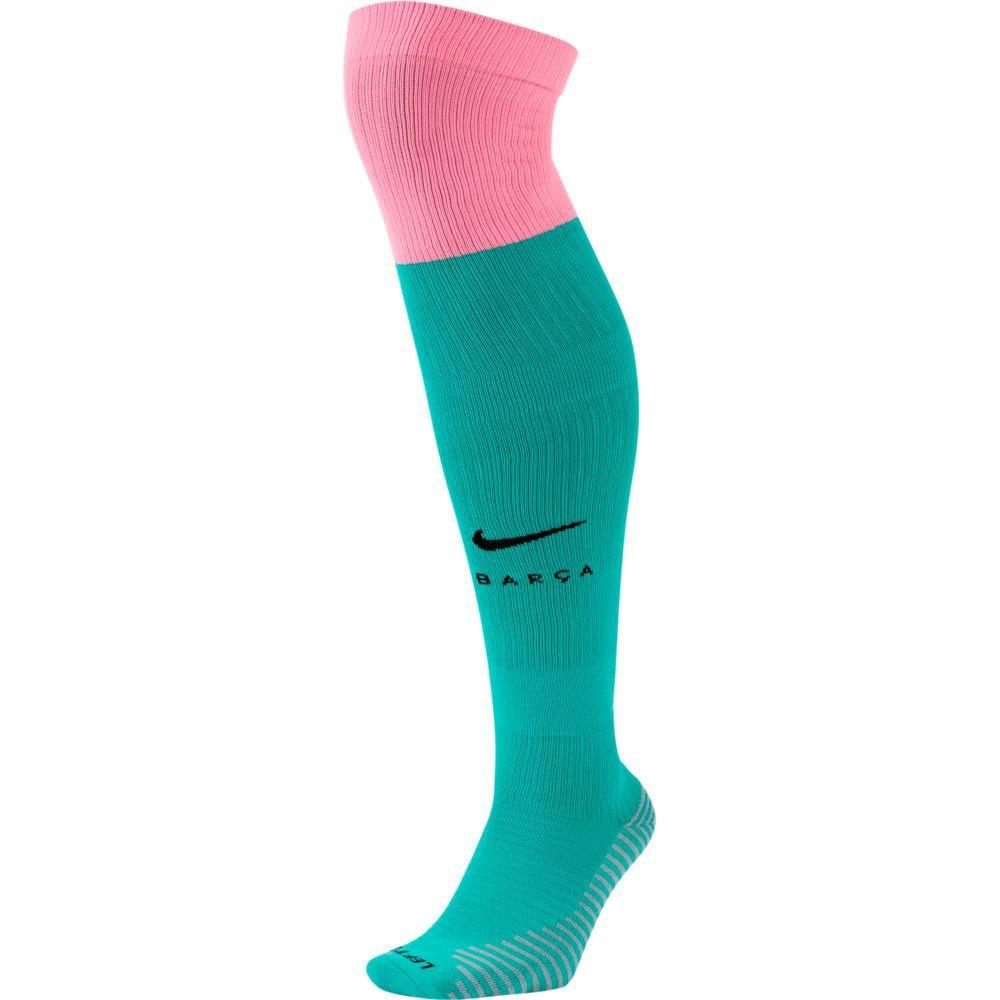 Nike Chaussettes Fc Barcelona Troisième Stadium 20/21 EU 46-50 New Green / Pink Beam / Black