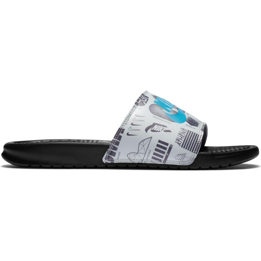 Nike Benassi Just Do It Slide EU 40 Black / Blue Fury / Summit White / Iron Grey