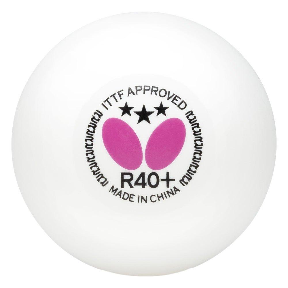 Butterfly 3 Star R40+ 3 Balls White