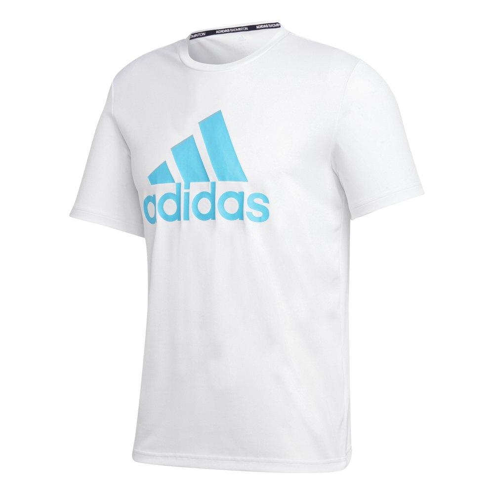 Adidas Badminton Logo S White / Signal Cyan
