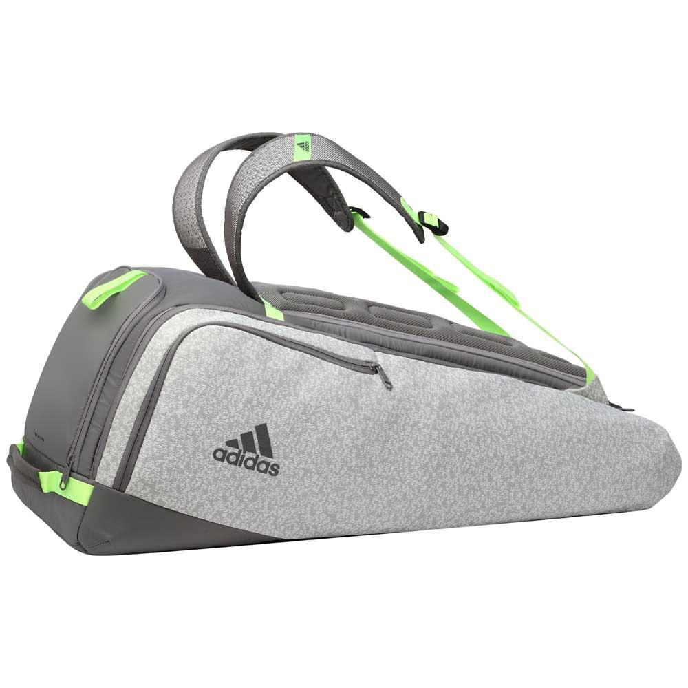 Adidas Badminton Sac Raquettes 360 B7 One Size Grey / Lime