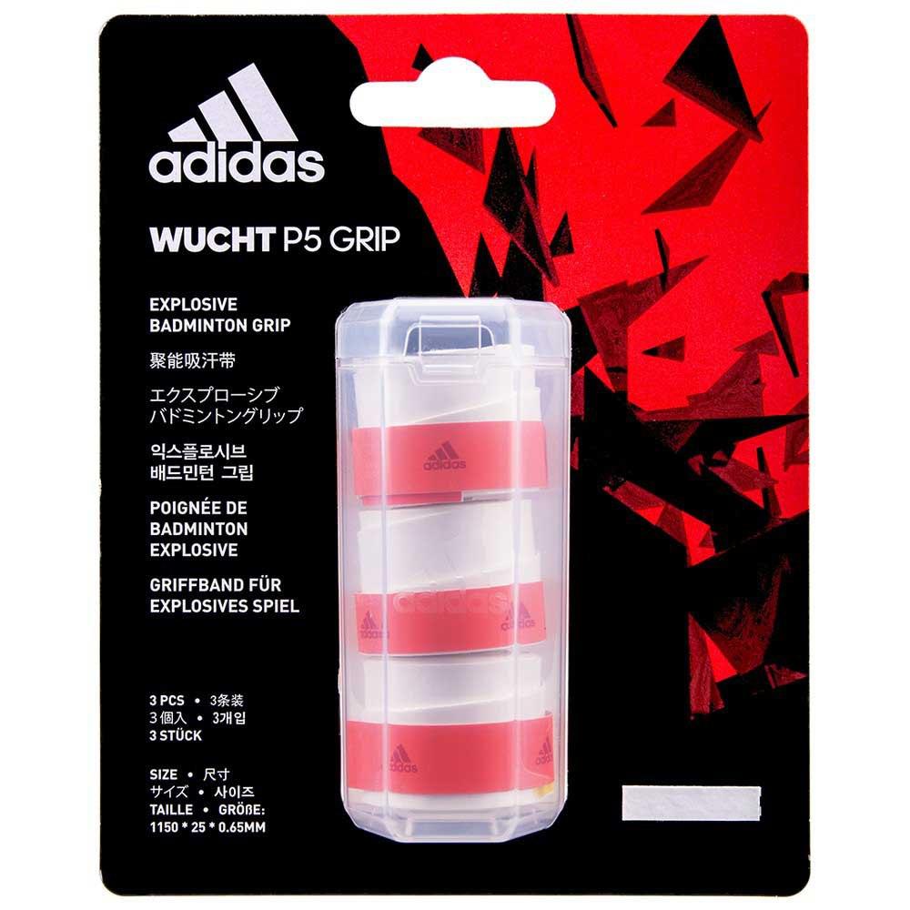 Adidas Badminton Grip Badminton Wucht P5 3 Unités One Size White