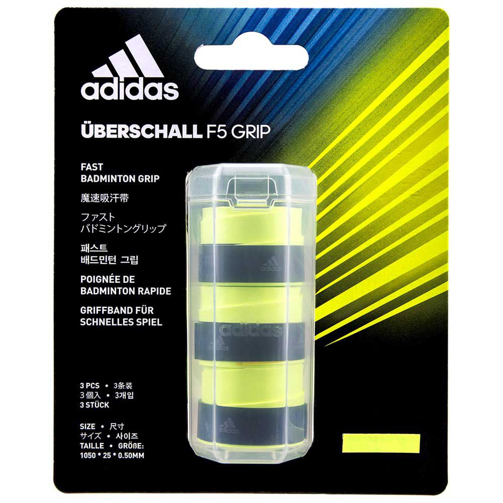 Adidas Badminton Grip Badminton Überschall F5 3 Unités One Size Yellow