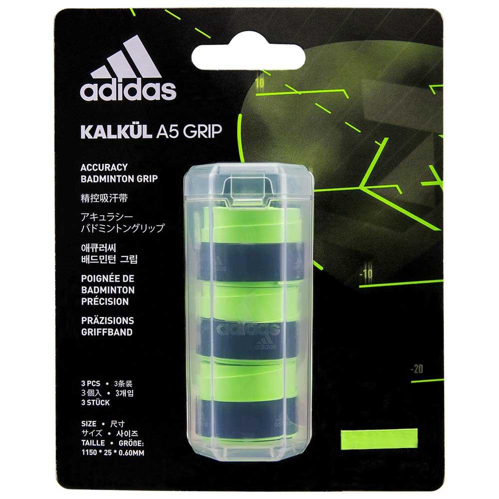 Adidas Badminton Grip Badminton Kalkül A5 3 Unités One Size Green