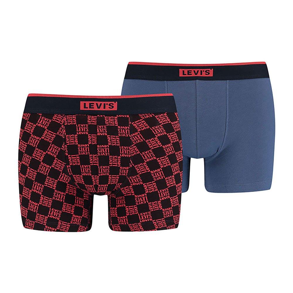 Levi´s ® Triple Logo Aop Neon Boxer Brief 2 Pack XXL Neon Red