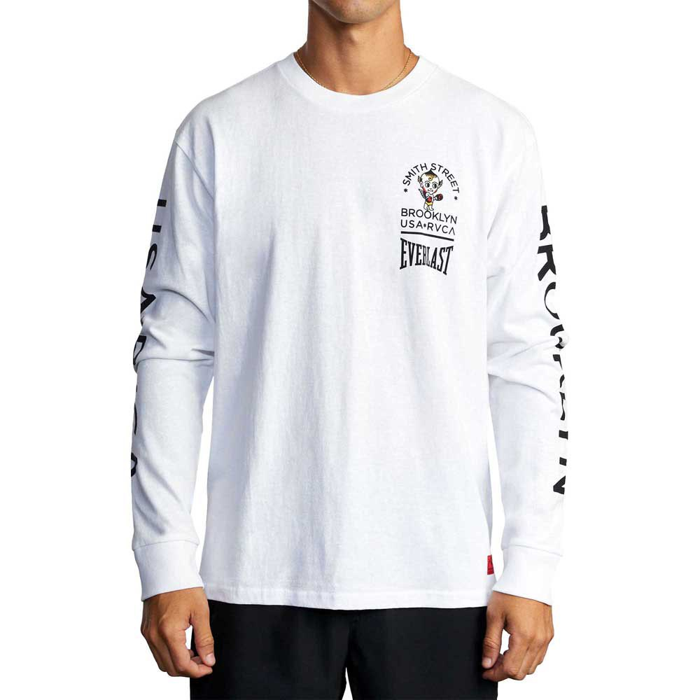 Rvca T-shirt Manche Courte Big Devil M White