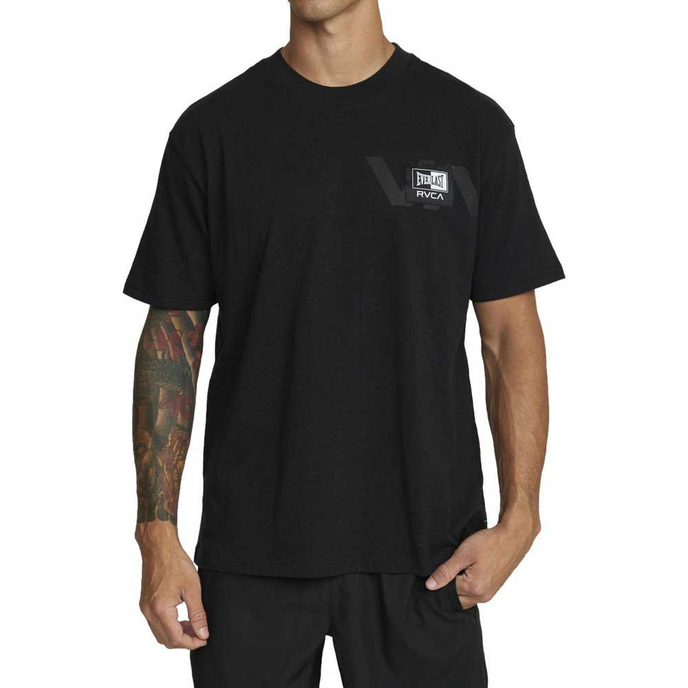 Rvca T-shirt Manche Courte Everlast Stack S Black