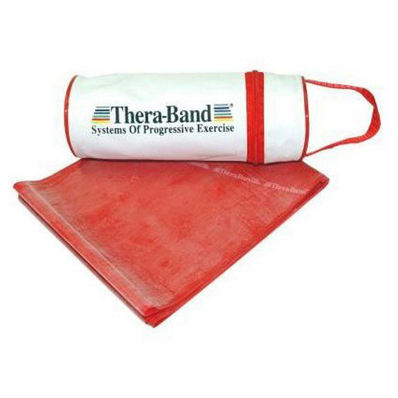 Theraband Zippered Bag Band 250 x 13.8 cm Red