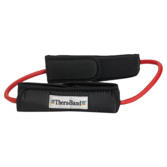 Theraband Tubing Loop Padded Cuffs 140 cm Red